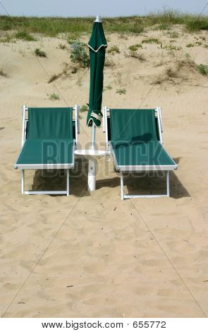 Abandoned Beach Chairs