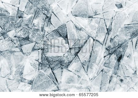 Abstract shapes in ice detail