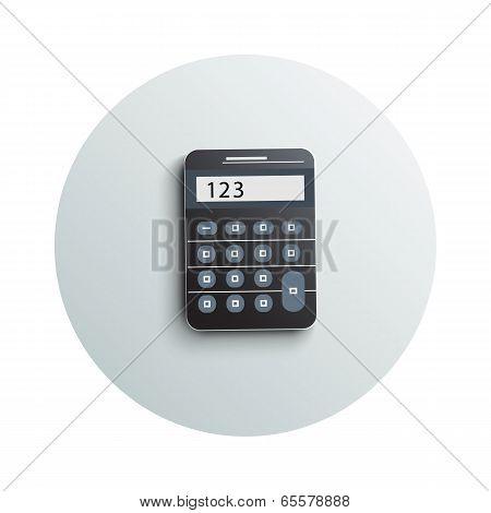 Detailed Modern Calculator Business Concept