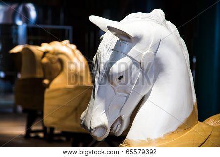 Carousel Horses In Progress