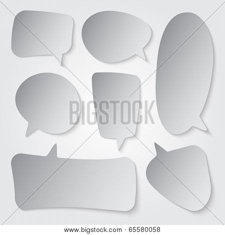 Speech bubble illustration collection set