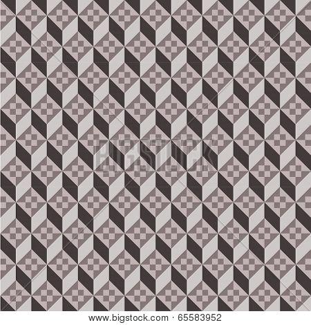 Seamless geometric pattern retro style on vector