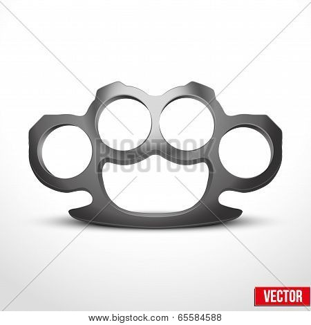 Metal Brassknuckles vector illustration