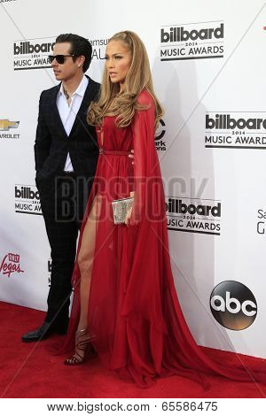 LAS VEGAS - MAY 18:  Casper Smart, Jennifer Lopez at the 2014 Billboard Awards at MGM Grand Garden Arena on May 18, 2014 in Las Vegas, NV