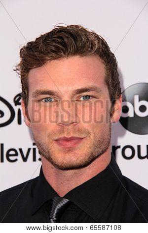 LOS ANGELES - MAY 19:  Derek Theler at the Disney Media Networks International Upfronts at Walt Disney Studios on May 19, 2013 in Burbank, CA
