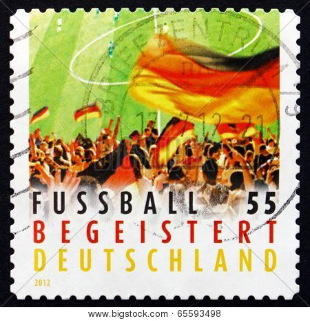 Postage Stamp Germany 2012 Crowd Waving Flag