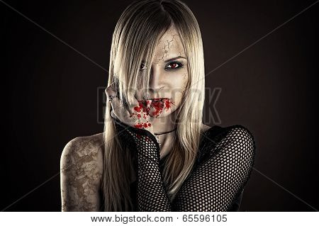 beautiful sexy vampire woman