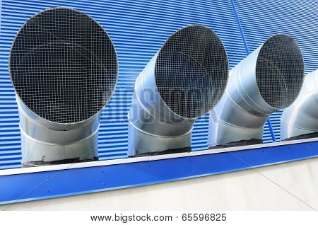 Four Ventilation Pipes Of Industrial Building