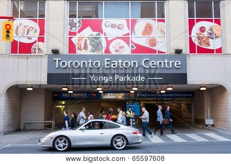 Entrance To The Eaton Centre Parking Lot
