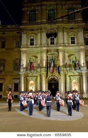 Modena, Italy - July 9 : Italy Military Band During International Concert Of Military Bands On July