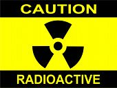 image of reactor  - A Caution Radiation sign in yellow and black - JPG