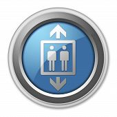 image of elevator icon  - Icon Button Pictogram Illustration Image with Elevator symbol - JPG