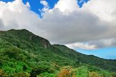 stock photo of san juan puerto rico  - Mountain with cloud in San Juan - JPG