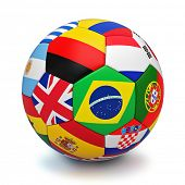 image of holland flag  - Soccer ball with world countries flags isolated on white background - JPG
