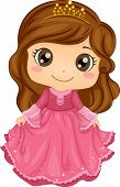 foto of dainty  - Illustration of a Cute Little Girl Wearing a Princess Costume - JPG
