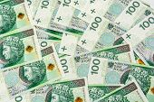 stock photo of zloty  - Background of 100 PLN  - JPG