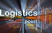 image of supply chain  - Word cloud concept illustration of logistics management glowing light effect - JPG