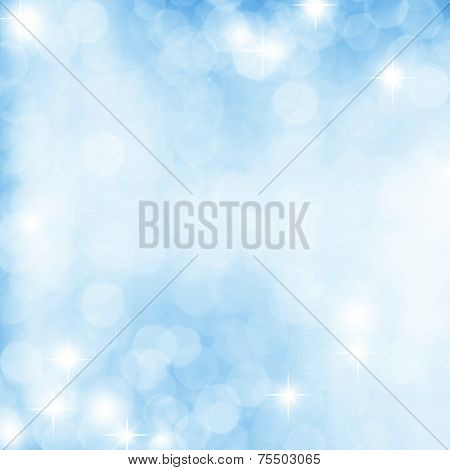 Abstract white shiny lights blue background