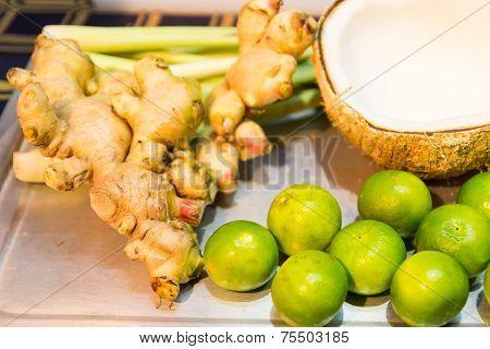 Ginger, Lemon ,lemongrass  And Coconut