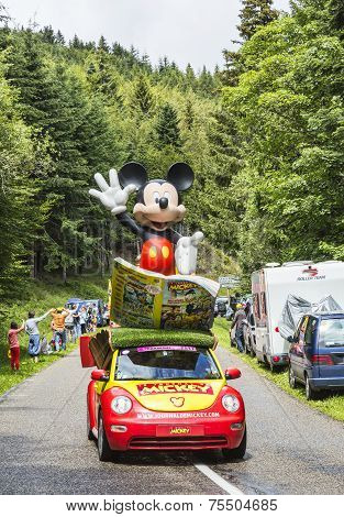Mickey's Car During Le Tour De France 2014