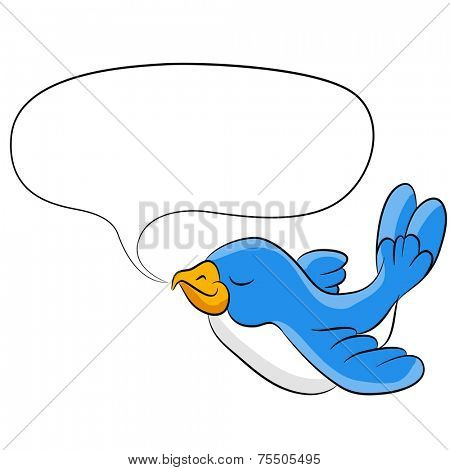An image of a talking bird.