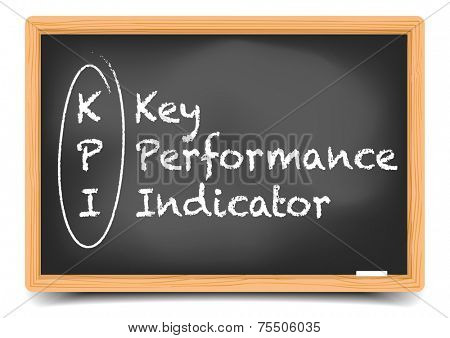 detailed illustration of a blackboard with a KPI term explanation, eps10 vector, gradient mesh included