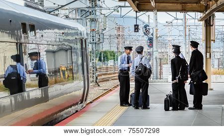 Japanese Train Conductors