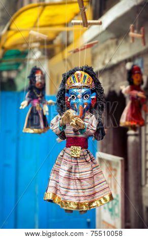 Puppets At Nepal Market