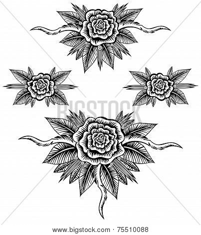 Collection Roses Line Art
