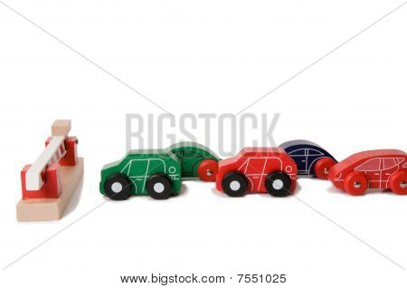 toy car traffic jam
