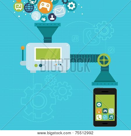 Vector App Development For Mobile Phone