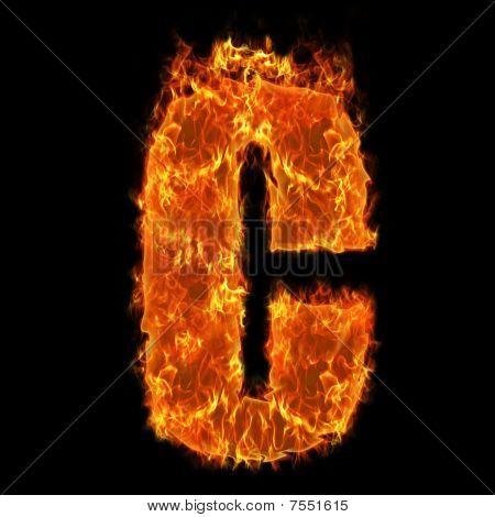 Burning Alphabet C