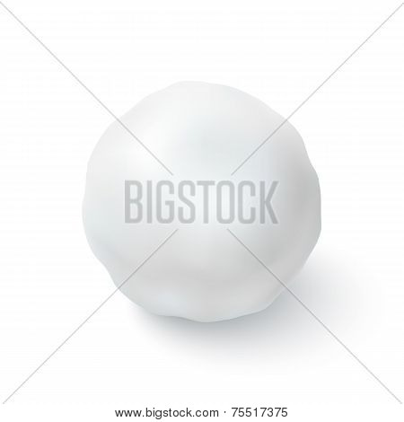 Snowball icon isolated on white background