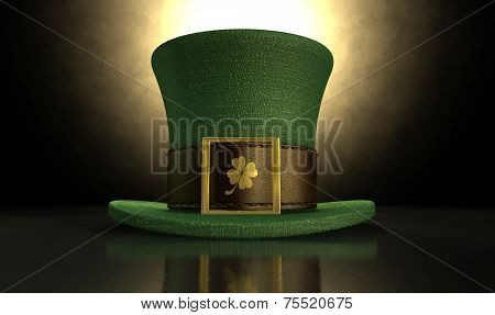 Green Leprechaun Shamrock Hat