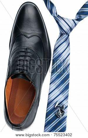 Men's Shoes, Tie, Cufflinks, Classic Style