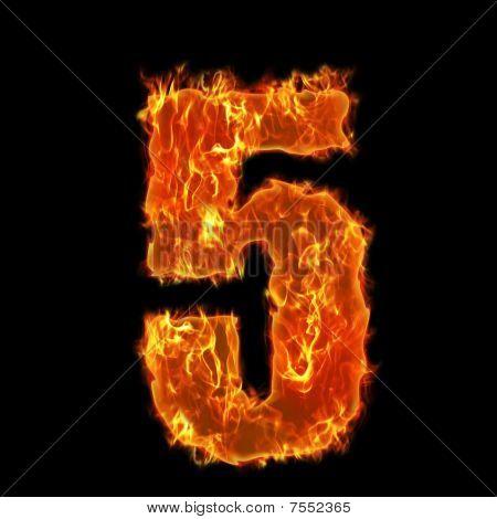 Burning Number 5 five