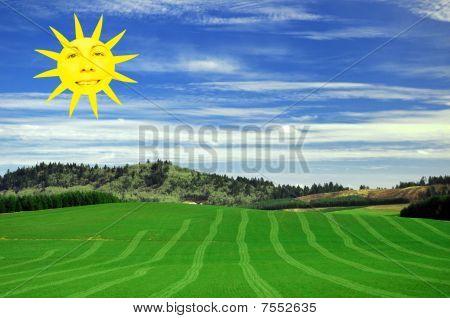 Cara sol Sumer feliz