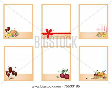 Set Of Photos Withtraditional Christmas Dinner