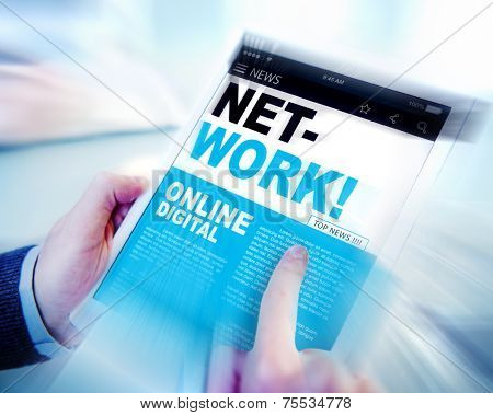Digital Online News Headline Network Concept