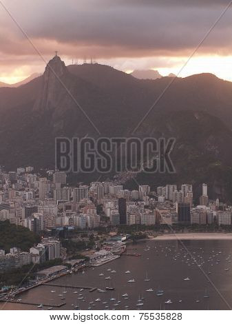 Rio Harbor And Christ Redeemer