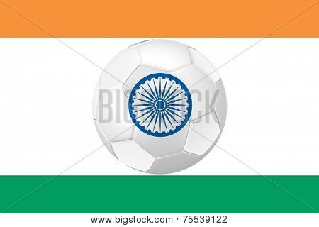 India Flag with the ball