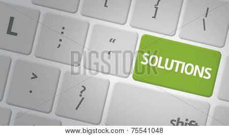 Computer keyboard with word Solutions