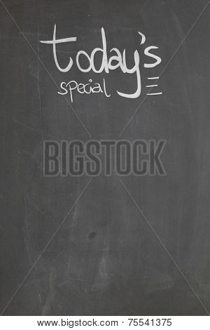 Blackboard with the text - Today's Special