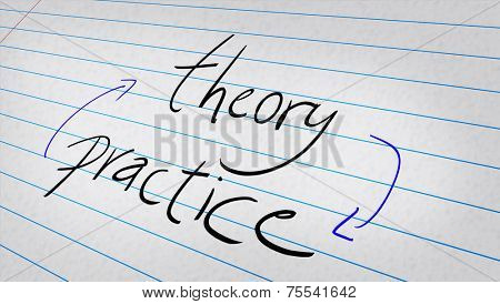 Theory, Practice written on a note pad