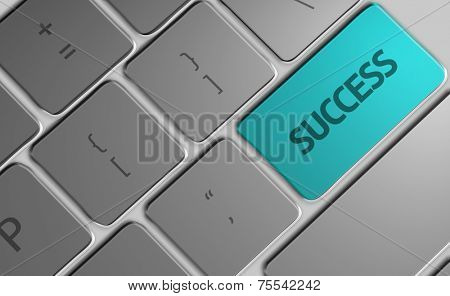 Computer keyboard with word Success
