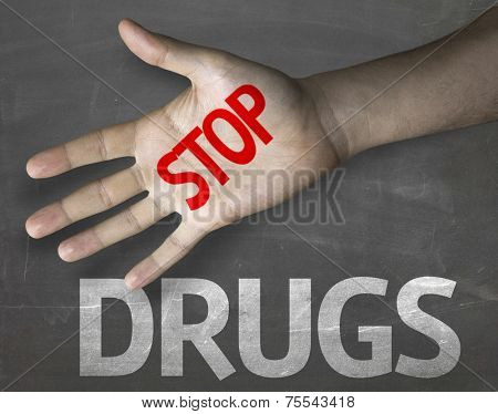 Creative composition with the message Stop Drugs