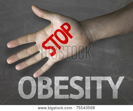 Creative composition with the message Stop Obesity