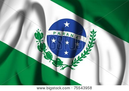 Flag of Parana State, Brazil