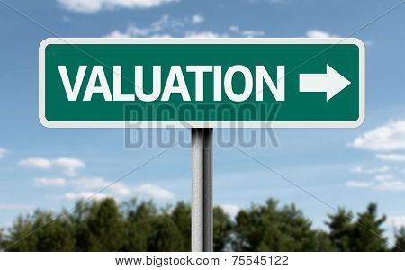 Valuation creative sign