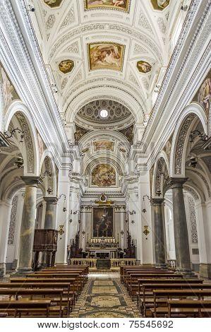 Interiors Of San Martino Church In Erice, Sicily